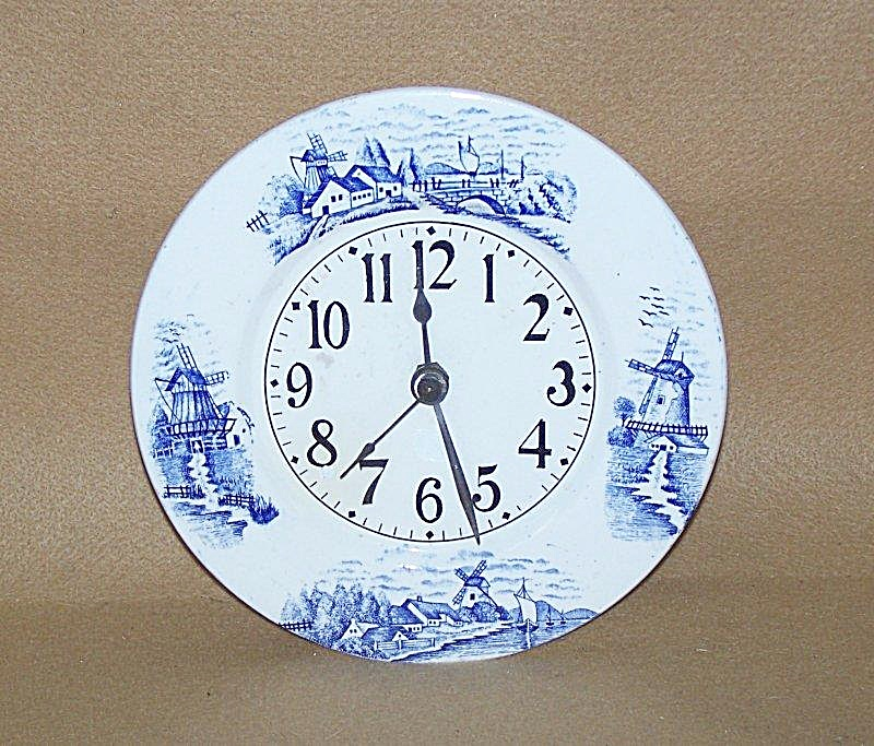 1950's Delft Plate Electric Clock
