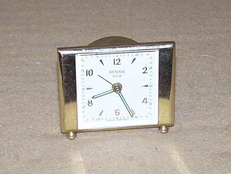 Vintage Rensie Brass Mini Alarm Clock