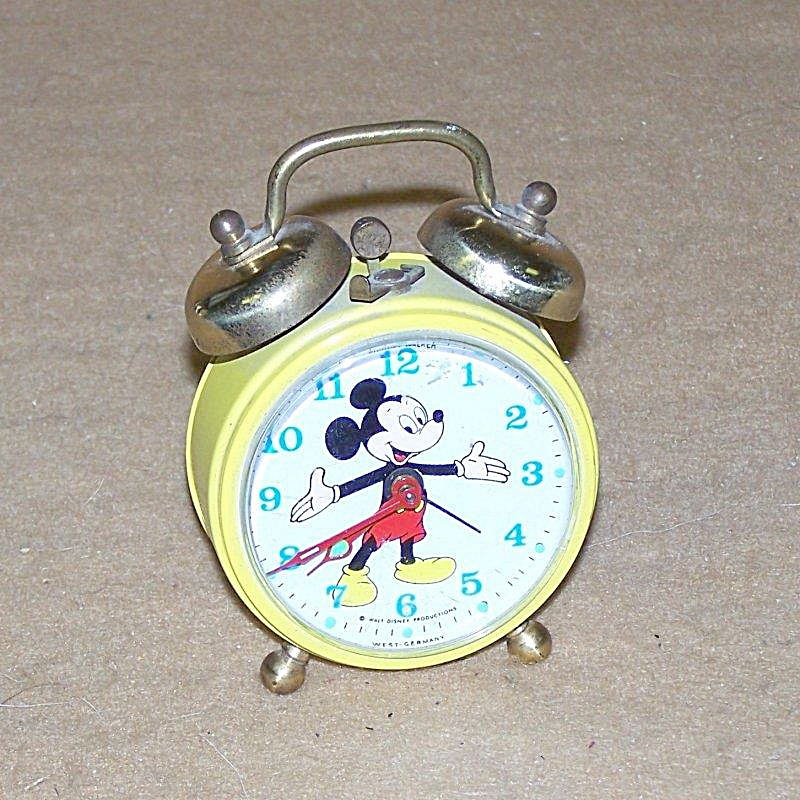 Vintage Mickey Mouse Twin-bell Alarm Clock 2766
