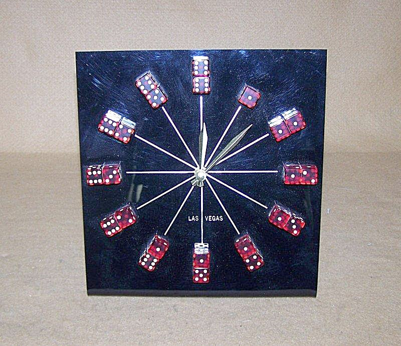 Las Vegas Red Dice Clock (Image1)