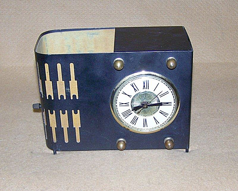 Vintage 1950 Lanshire Electric Tv Lamp Clock