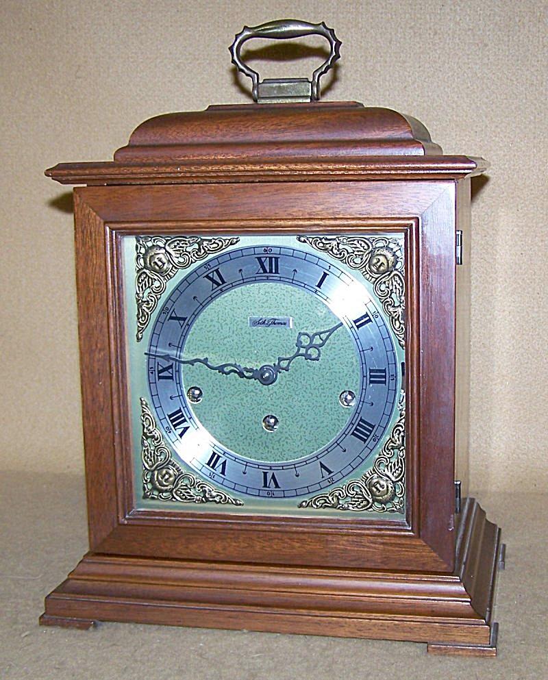 1970's Seth Thomas Chiming Carriage Mantel Clock 2796 (Image1)