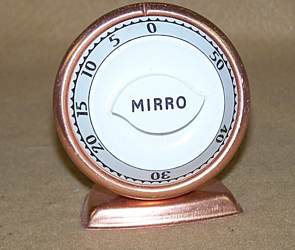 Vintage Mirro Kitchen Timer Made In The Usa