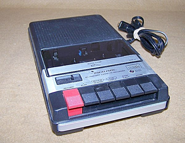 Realistic Model 14-1007 Portable Cassette Tape Recorder