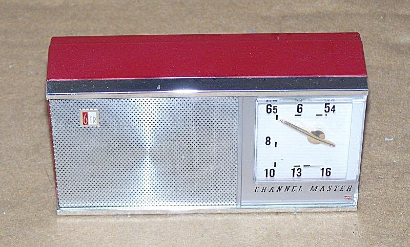 1959 Portable Red Channel Master 6 Transistor Radio