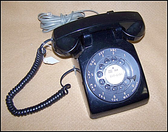 Vintage Western Electric Black Dial Telephone