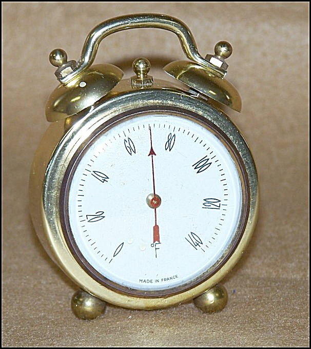 Vintage French Gold Twin-Bell Thermometer (Image1)