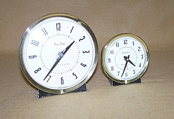 Westclox Style 7 Big Ben & Baby Ben Matched Set Alarms