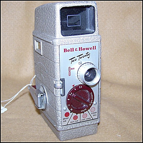 Classic Bell & Howell Two Twenty 8mm Movie Camera