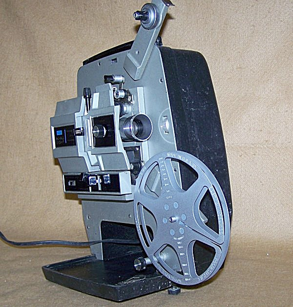 Vintage Sears Self-thread Dual 8mm Movie Projector 7533
