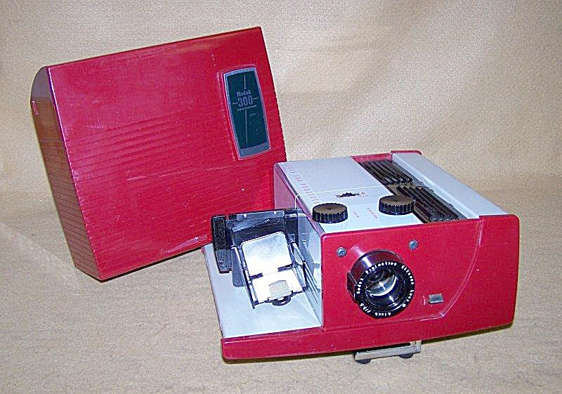 Vintage Ruby Red Kodak Model 300 35mm Slide Projector (Image1)