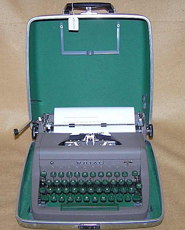 1953 Royal Quiet Deluxe Portable Typewriter 8168