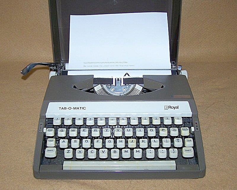 Nostalgic 1970 Royal Tab-o-matic Typewriter 8249
