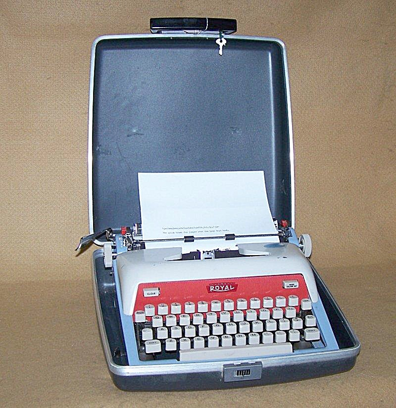 1963 Red/white/blue Futura 800 Royal Typewriter