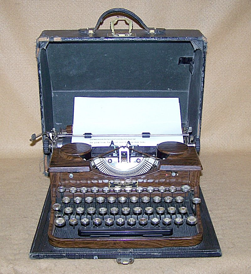 Classic 1930 Royal Glass Key Portable Typewriter