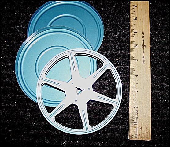 Standard 8mm Metal 5 Inch Movie Reel w/Can (Image1)