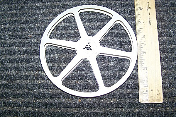 Standard 8mm Metal 6 Inch Movie Reel