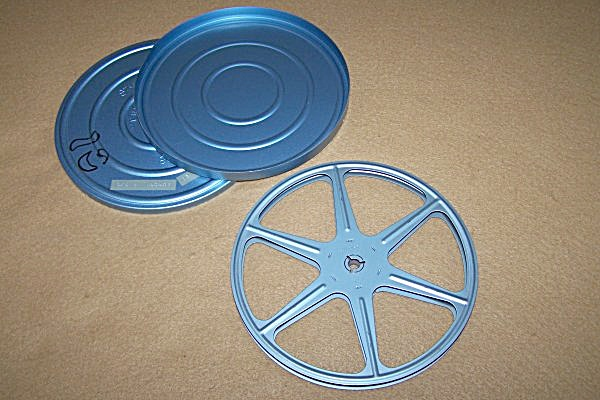 Regular 8mm Metal Movie Reel 6 Inch 300 Ft W/can