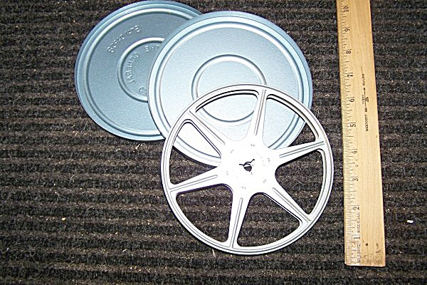 Standard 8mm Metal 6 Inch Movie Reel w/Can (Image1)