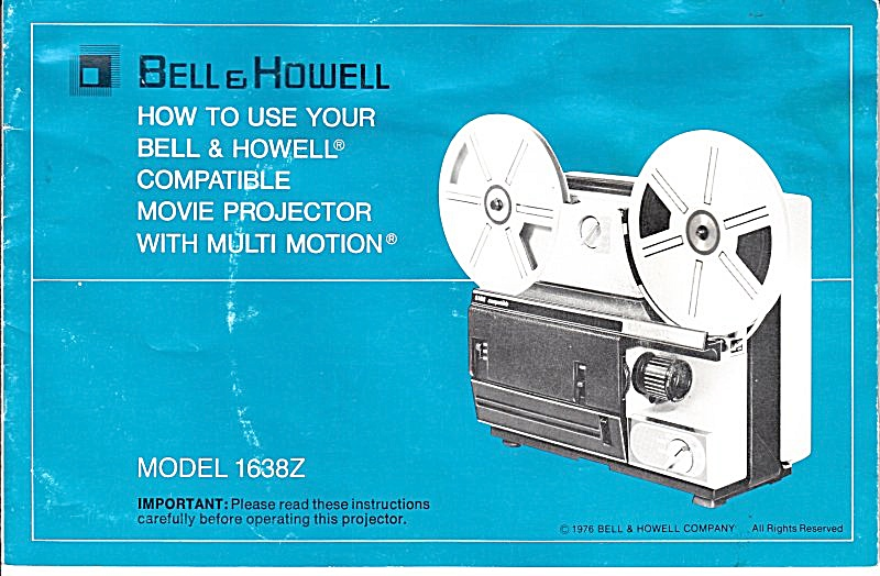 B&h Movie Projector Mod 1638z - Downloadable E-manual