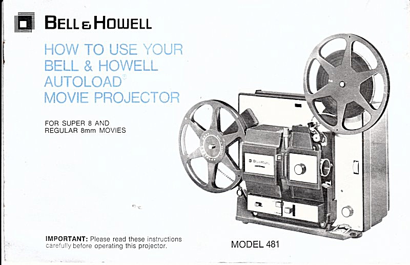 B&h Autoload Projector Mod 481--downloadable E-manual
