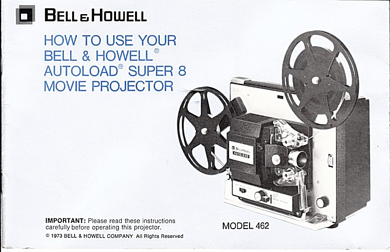 B&h Movie Projector Mod 462 - Downloadable E-manual
