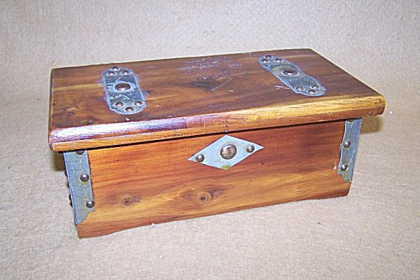 Vintage South Bend Toy Cedar Chest