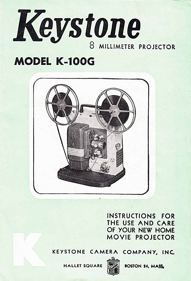 Keystone 8mm Projector Modk-100g--downloadable E-manual