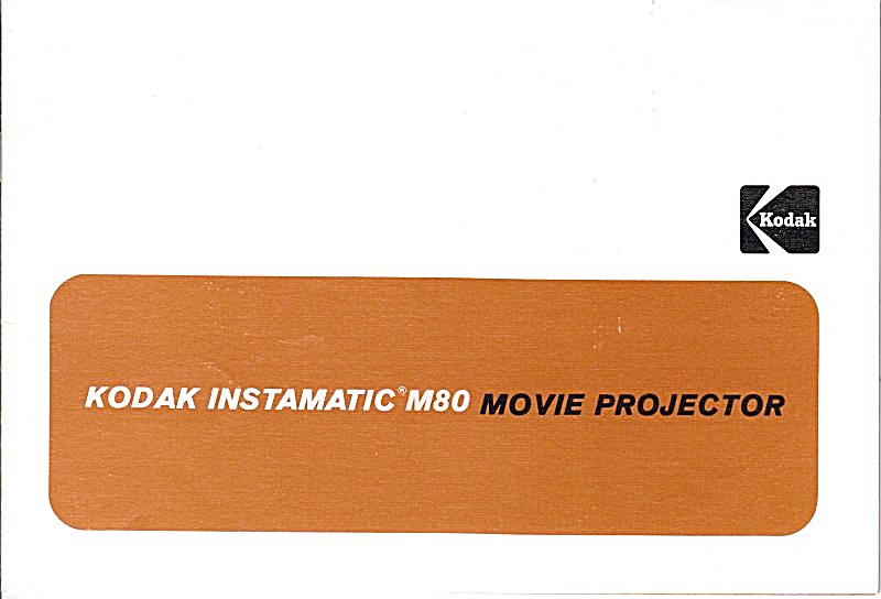 Instamatic M80 Movie Projector - Downloadable E-manual