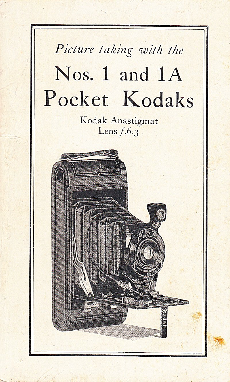 Kodak Pocket No's 1 & 1a Cameras--downloadable E-manual