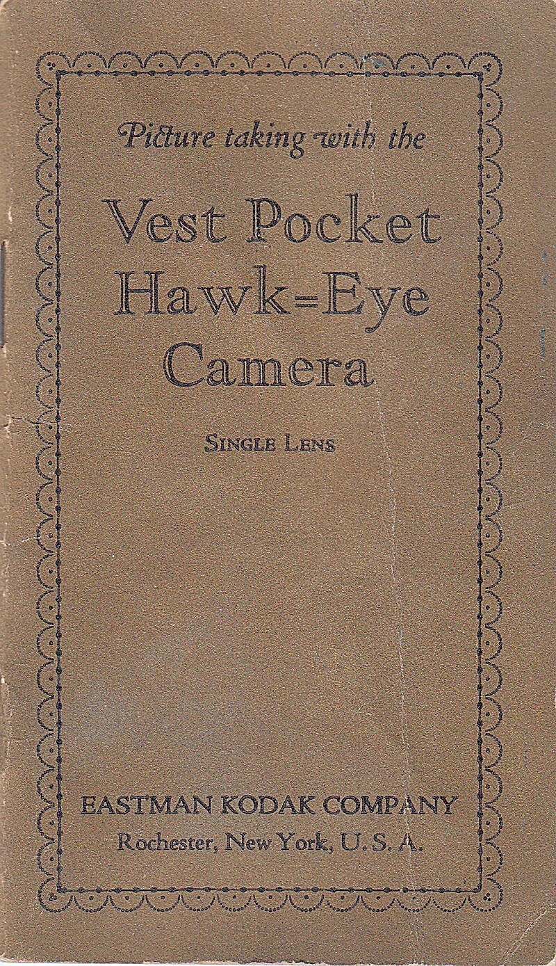 Kodak Vest Pocket Hawk-eye Camera-downloadable E-manual