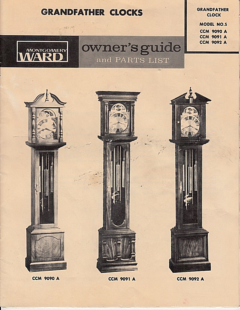 Wards Grandfather Clocks - Downloadable E-manual