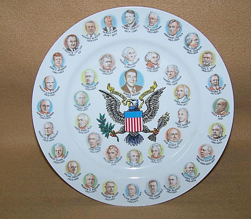 Vintage 1980's President Commemorative Plate (Image1)