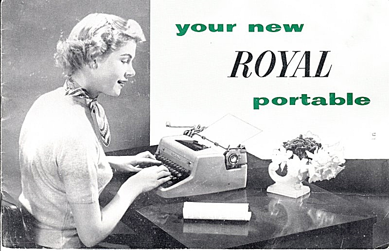 Royal Quiet Deluxe Typewriter--downloadable E-manual