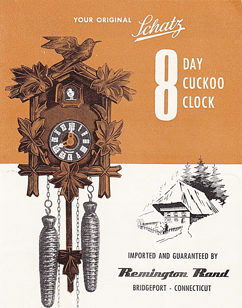 Schatz 8-day Cuckoo Clock - Downloadable E-manual