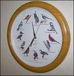 Click here to enlarge image and see more about item 1428: Collectible Audubon Society Talking Wild Bird Clock