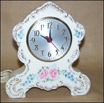 Click to view larger image of Old Sessions Porcelain Glazed Floral Clock (Image1)