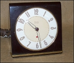 Click here to enlarge image and see more about item 1642: 1948  Westclox Model S6-D Bakelite Alarm Clock