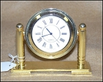 Click here to enlarge image and see more about item 1687: Attractive Gold Desk Clock