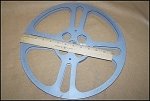 Click here to enlarge image and see more about item 16mm08: Large 1600 Ft. 13.75 Inch 16mm Metal Movie Film Reel
