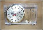 Click here to enlarge image and see more about item 1851: Vintage Sessions Mod W Sea Creature Lucite Clock