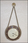 Click here to enlarge image and see more about item 2357: Vintage Western Rope Wall Clock & Barometer Set