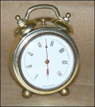 Click here to enlarge image and see more about item 6004: Vintage French Gold Twin-Bell Thermometer