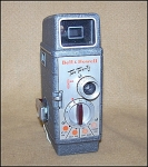 Click here to enlarge image and see more about item 7162: Classic Bell & Howell Two Twenty 8mm Movie Camera #7162