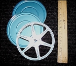 Click here to enlarge image and see more about item 8mmreel5: Standard 8mm Metal 5 Inch Movie Reel w/Can