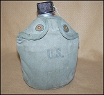 Click here to enlarge image and see more about item 9003: Standard GI Issue 1943 Army Signed Canteen and Cup