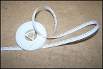 Click here to enlarge image and see more about item Leader8m: Standard 8mm White Movie Leader Tape