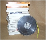 Click here to enlarge image and see more about item Tape01: Vintage 7 inch Tape Recorder Reel w/Tape