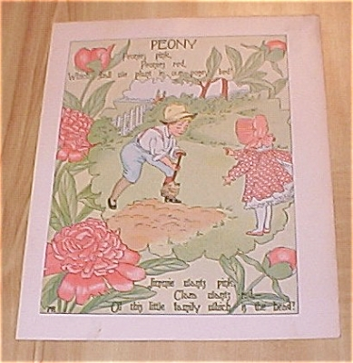 1905 Ida May Rockwell Children's Flower Babies Book Print Peony & Hops