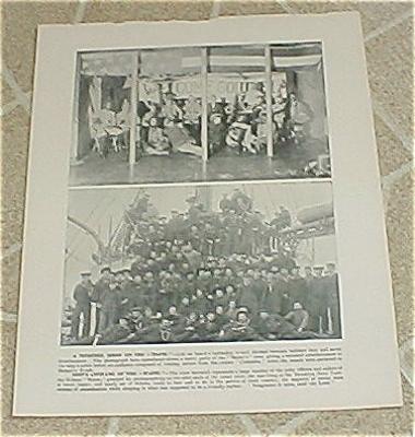 1898 USS Maine Minstrel Show & Ship's Company Prints, Target Practice (Image1)